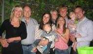 Avec nos enfants, beaux-enfants et notre petit Sam
