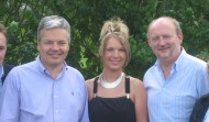 Avec Didier REYNDERS, Vice-Premier Ministre et Georges PIRE, Député Provincial